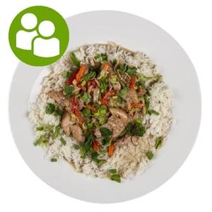 MEATOLOGY GO FOR 2 / Zöldcurrys csirke, jázminrizs (710g)