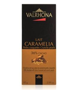 Valrhona Caramélia tejcsokoládé ropogós gyöngyökkel